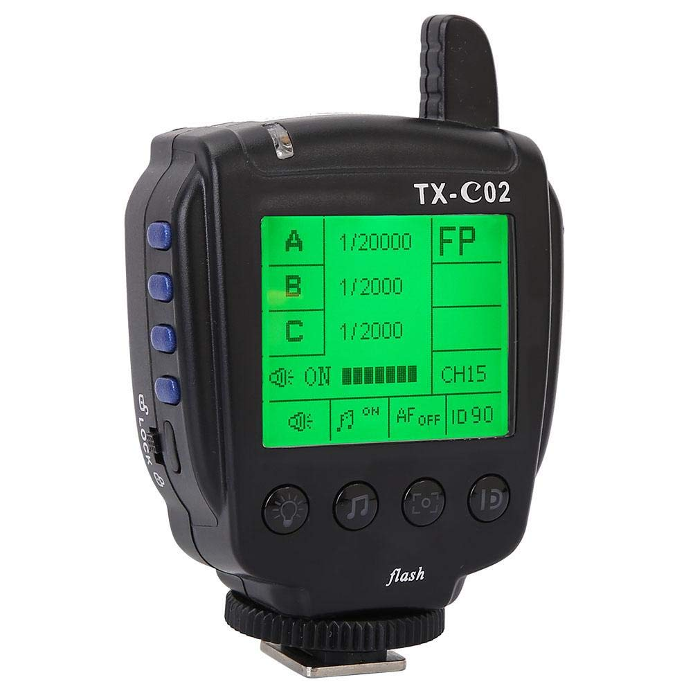 Vbestlife LCD Display TTL Flash Trigger, LCD Large Display Wireless TTL Flash Controller Trigger 2.4 GHz Wireless Trigger for Cameras(for Canon) by Vbestlife
