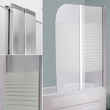 141 cm cristal pared bañeras Mampara de bañera plegable) pared ducha pared nuevo: Amazon.es: Bricolaje y herramientas