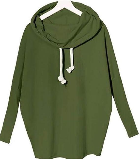 ... Pullover Fashion Vintage Casual Sencillos Cómodo Elegante Colores Sólidos Cuello De Bufanda Talla Grande Sudadera Capucha Sweatshirts Estilo: Amazon.es: ...