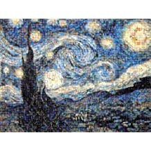 Buffalo Games Photomosaic, The Starry Night-1000pc Jigsaw Puzzle