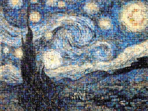 Buffalo Games - Photomosaic - Starry Night - 1000 Piece Jigsaw Puzzle