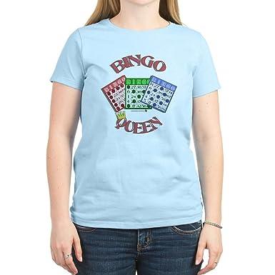 4bfb690fa CafePress - Bingo Queen Women's Pink T-Shirt - Womens Cotton T-Shirt,