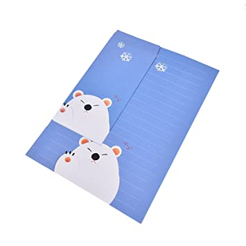 Peerless 6sheets Writing Paper 3sheets Envelope Cute Animals Letter Paper With Envelope Letter Pad Gift And To Have A Long Life. Letter Pad / Paper