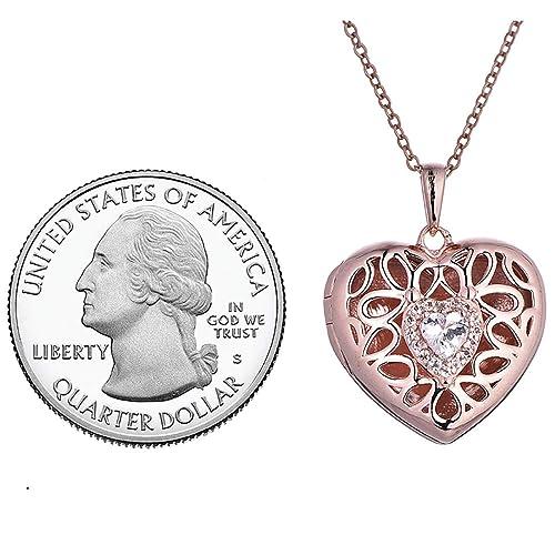 Amazon.com: Collar con medallón de plata de ley con diseño ...