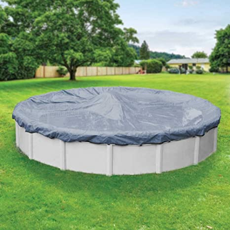 Pool Mate 4618PM Classic Winter Pool Cover for Round Above Ground Swimming  Pools, 18-ft. Round Pool
