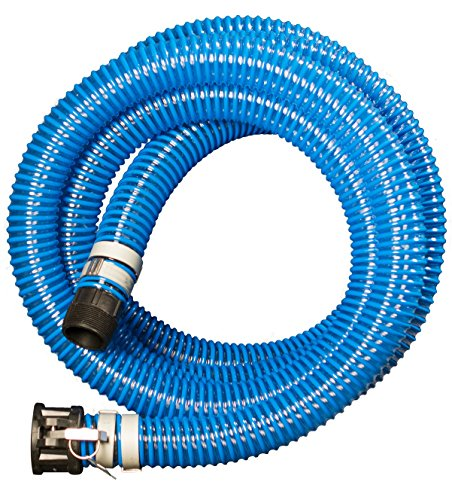 Apache 98106503 PVC Suction Poly CX King Nipple Hose, 40 psi, 2