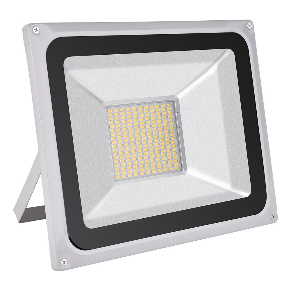 100W LED Flood Light, Outdoor Spotlight, Daylight White(6000-6500K), Waterproof, AC 200-240V, Security Lights, Super Bright, 7000LM Yuanline