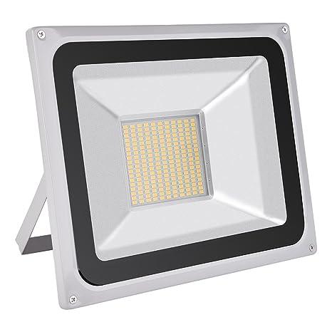 Foco proyector LED 20W/30W/50W/100W/150W/200W/300W/500W/800W para exteriores, 1000LM-56000LM, Blanco frio 6000-6500K resistente al agua IP65, luz ...