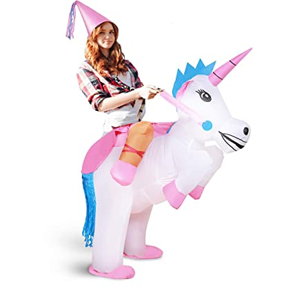 Disfras de Unicornio inflable