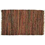 Hand Woven Country Rag Rugs in Spice, 2 x 3