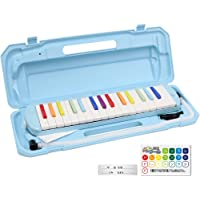 KC キョーリツ 鍵盤ハーモニカ メロディピアノ 32鍵 虹色 P3001-32K/NIJI (ドレミ表記シール・クロス・お名前シール付き)