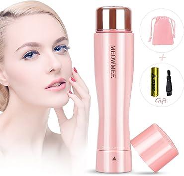 Depiladora de Vello Facial para Mujer, MEOWMEE Afeitadora sin ...