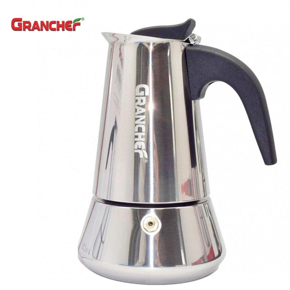 Cafetera Granchef de 2 tazas para pisos de cocina a inducción Ed cada Altra tipologia de cocina, vitrocerámica, eléctrica oa gas – Placa Llano ...