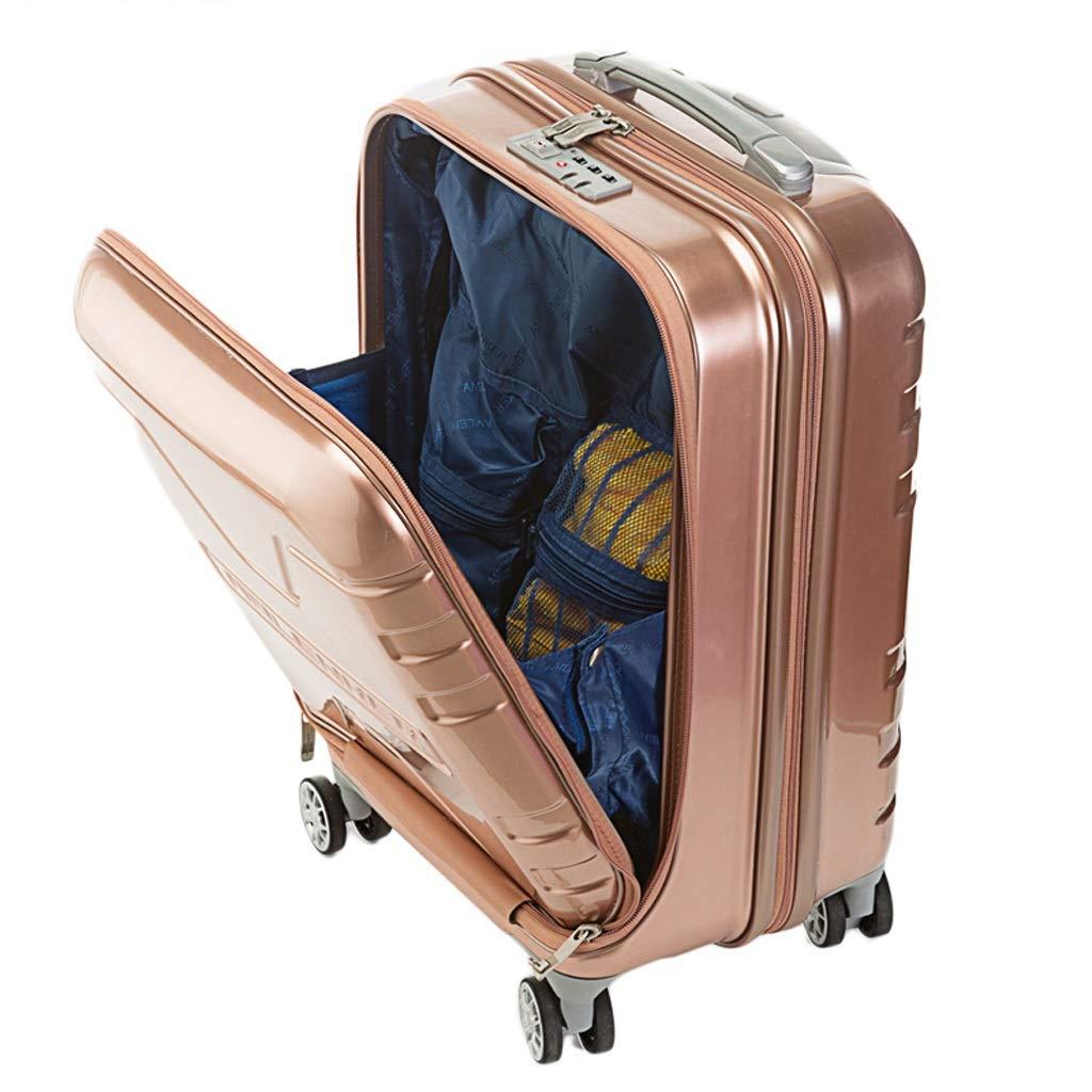 ZHAOSHUHLI スーツケース旅行トロリーケースビジネストロリーユニバーサルホイール男性コンピュータ搭乗ケーススーツケーススーツケース (Color : Rose gold, Size : 16'') B07R1LYCBT Rose gold 16''