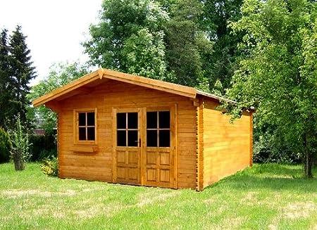 Jardín Casa Resina bloque casa 416 cm x 416 cm – 45 mm Cenador ...