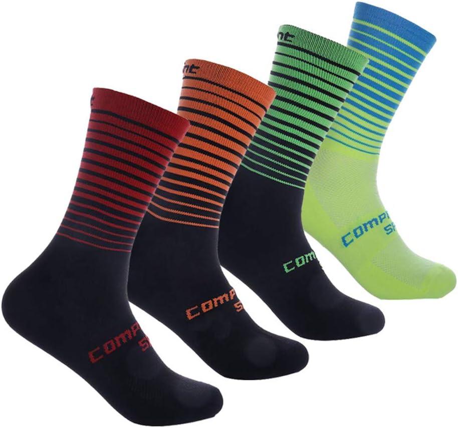 Compressprint Cycling Socks 3 to 4 Pairs Sports Socks Compression Running Socks Gym Performance (Assort 5,4Pairs)