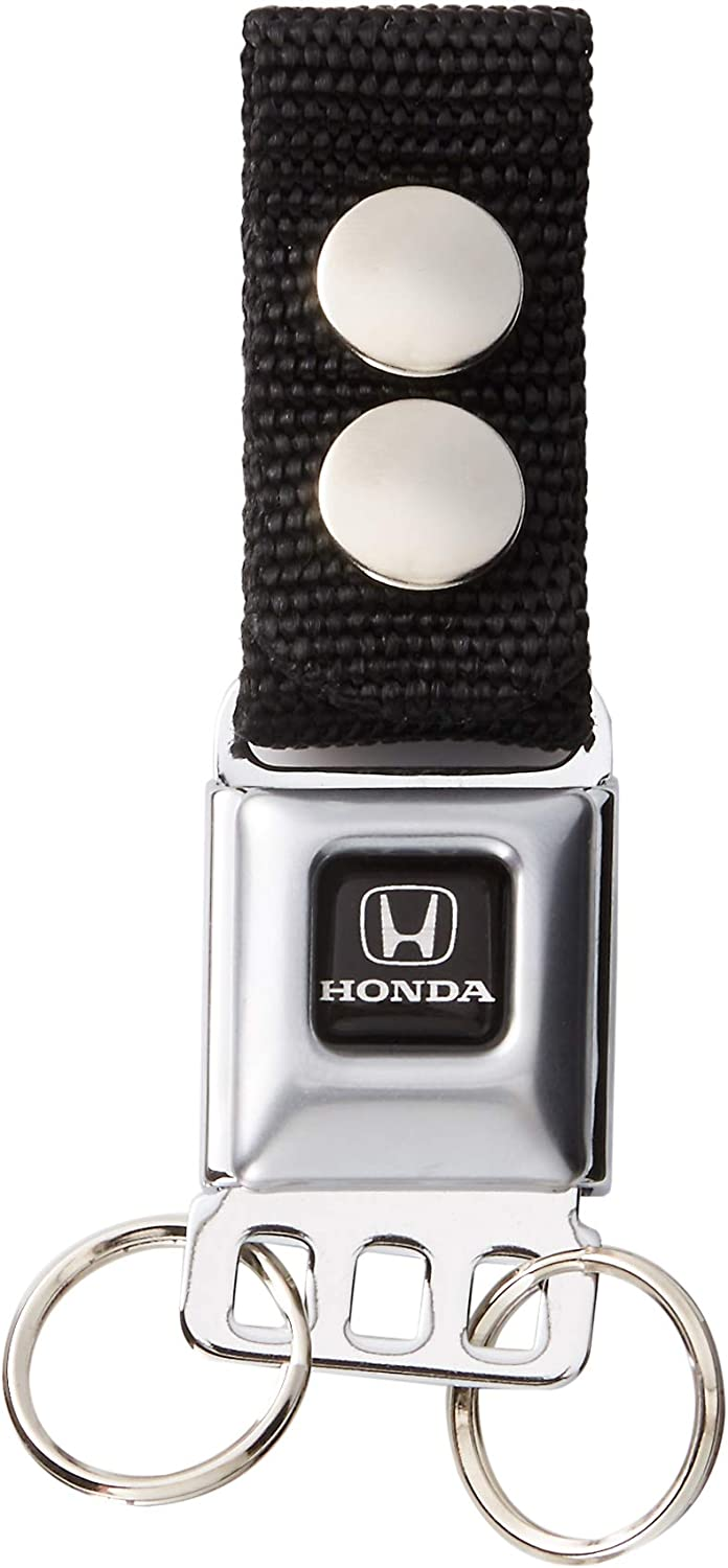 Multi-Colored One Size Honda Motorcycle Full Color Black//white Buckle-Down Keychain Black W Accessory