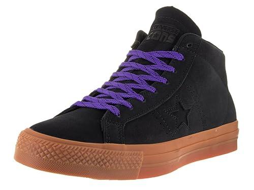 Converse - Zapatillas de Otra Piel para Hombre Negro Black/Gum/Candy Grape