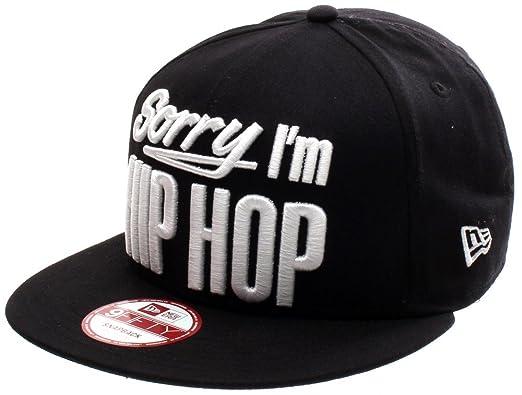 a38d0b82c94 clearance new era men caps snapback cap inj sorry im hip hop black s m  20d66 b786f