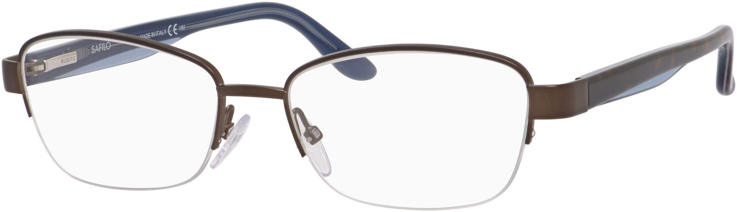 Emozioni 4373 HGC Brown Havana Blue Metal Semi-Rimless Eyeglasses 51mm by Emozioni