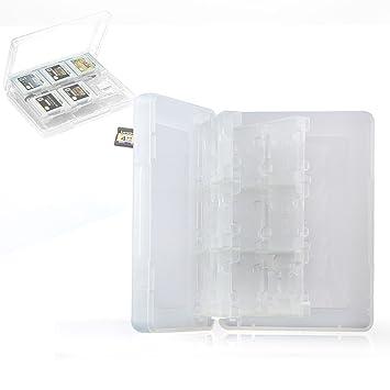 Neuftech Game Card Caja de Tarjetas para Nintendo 3DS XL, 2DS / 3DS, DSi XL, DSi y DS (22 Juegos y 2 Tarjetas de Memoria) - Blanco