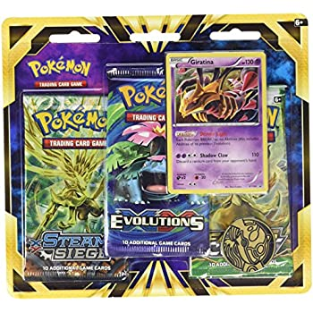 Pokemon TCG: Giratina Blister Pack Containing 3 Booster Packs And Featuring Foil Giratina And A Special Collectors Coin