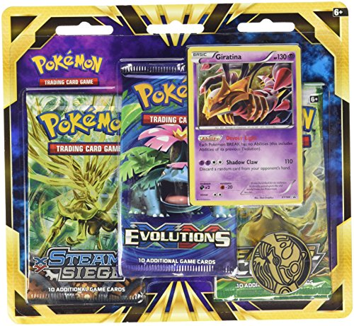 Pokemon TCG: Giratina Blister Pack Containing 3 Booster Packs And Featuring Foil Giratina And A Special Collector's Coin (Coin Pokemon)