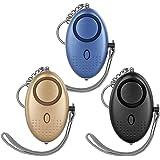 AUTOWT Alarma Personal de Sonido Seguro, 3 Paquetes de Llavero de Alarma de Seguridad Personal 140DB con Luces LED, Alarma de