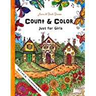 Count & Color - Just for Girls: Age 3 and Up -  Fun-Schooling  Math (Homeschooling for Beginners) (Volume 2)