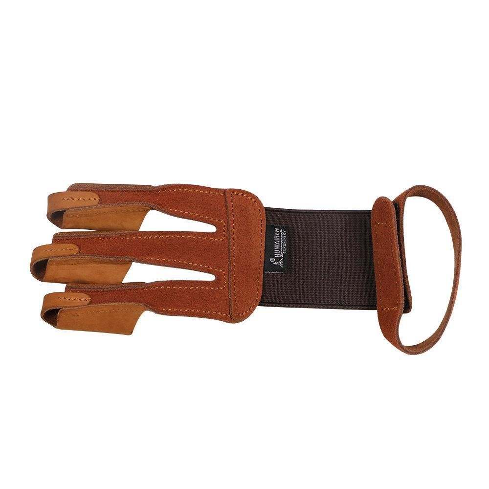 Toparchery Finger Hand Protective Gloves Leather Target Arm Guard 3 Finger Tab for Hunting Compound Recurve Bow by Toparchery (Image #2)