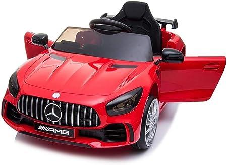 BC BABY COCHES Coche eléctrico para niños Mercedes GT-R con Ruedas Caucho y Mando Control Remoto - Batería 12v (Rojo)