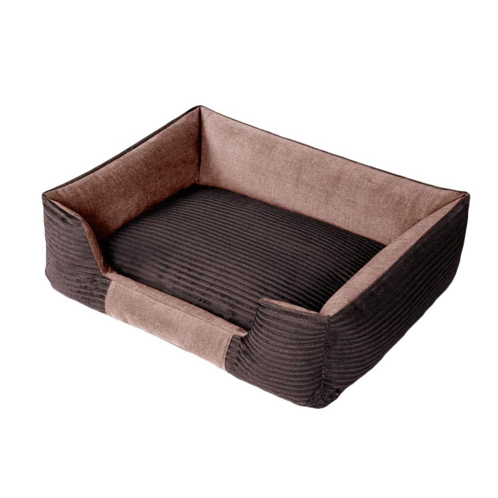 Pink 5545cmPet nest Corduroy PP cotton Mattress Suitable for dogs, cats, etc. Four seasons available Pet nest (color   PURPLE, Size   55  45cm)