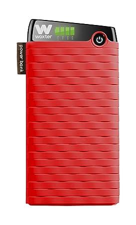 Woxter Power Bank 10500 SR - Alimentador portátil compatible con smartphones, tablets, reproductores MP3 y dispositivos USB, color rojo