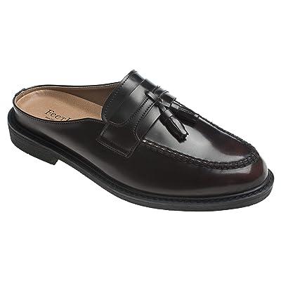 AGOS Mens Tassel Mules Open Back Loafer Slip-On Dress Slippers | Shoes