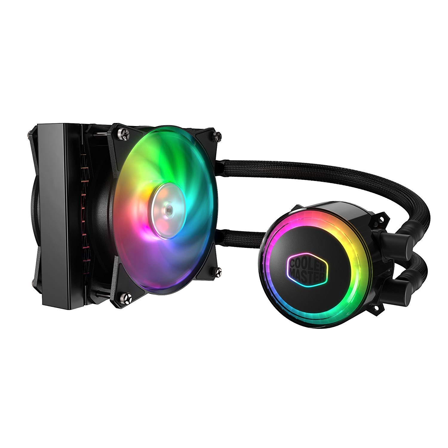 Cooler Master MasterLiquid ML120R Addressable RGB All-in-one CPU Liquid Cooler Dual Chamber Intel/AMD Support Cooling (MLX-D12M-A20PC-R1) by Cooler Master
