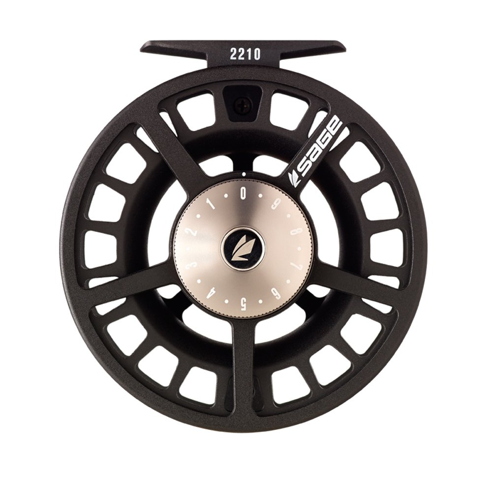 Sage 2210 Fly Reel-Black/Platinum (9-10 wt) by Sage