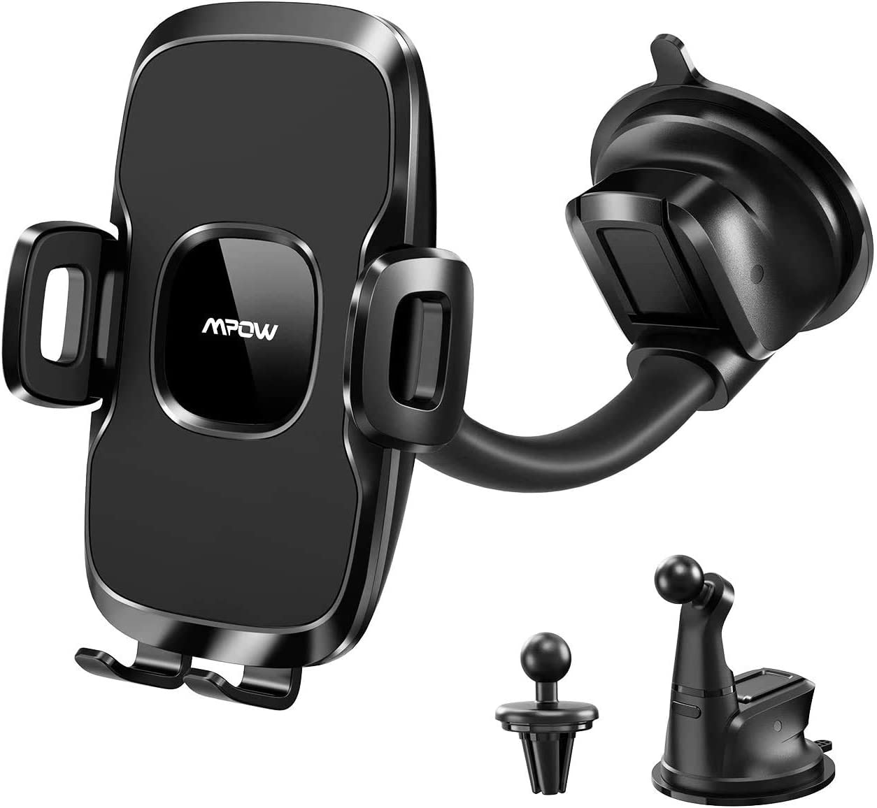 Mpow 3-in-1 Air Vent Dashboard Windshield Car Phone Mount, Cell Phone Holder Compatible with iPhone 12 11 Pro Max XS MAX/XS/XR/8/8 Plus/7/7 Plus, Samsung Galaxy S10/S9/S8 and More