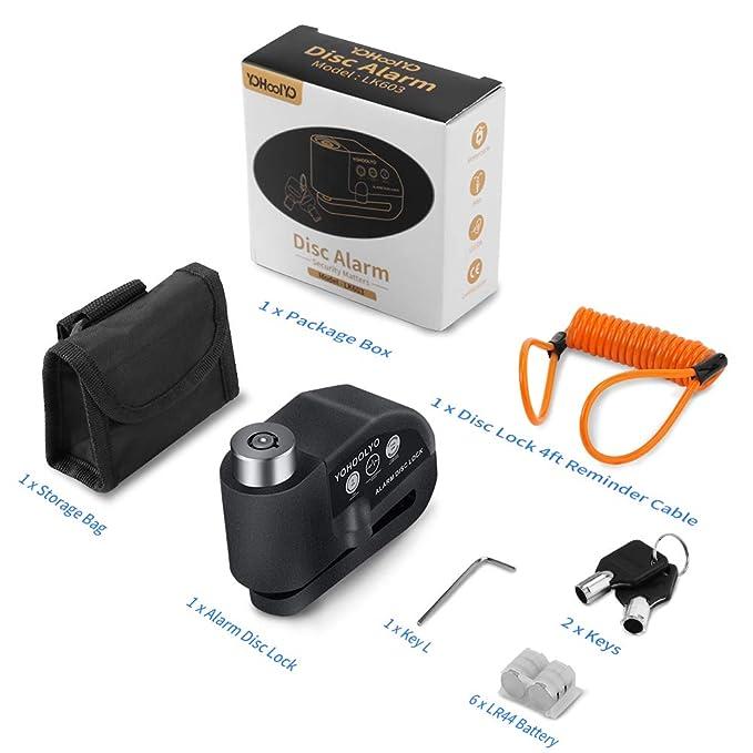 Amazon.com: Candado antirrobo con alarma Yohoolyo, bloqueo ...
