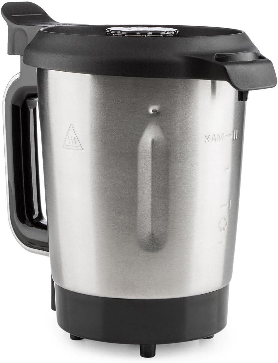 KLARSTEIN Foodcircus Jarra de Mezcla (Recipiente de Repuesto, Capacidad de 2 litros, Acero Inoxidable, Accesorio Robot de Cocina) - Mango Blanco