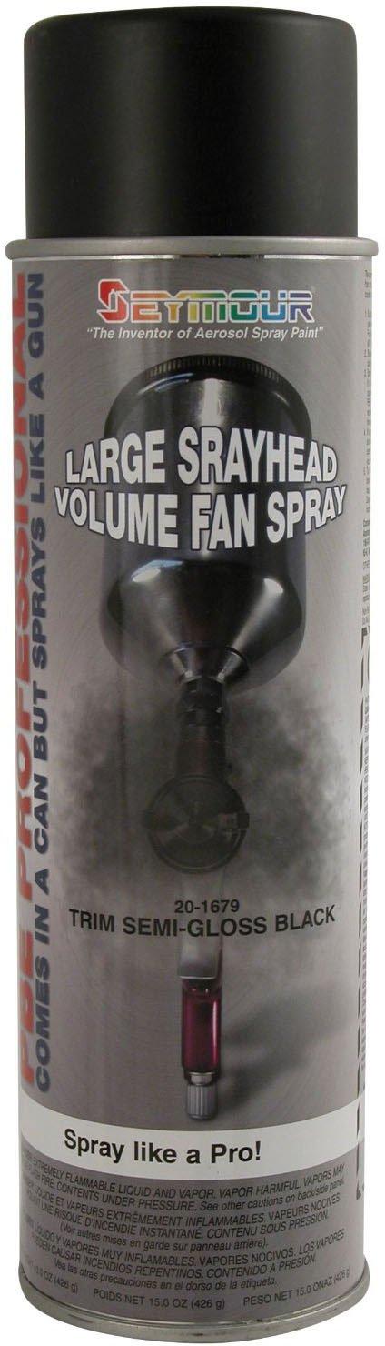 Seymour 20-1679 PBE Professional Trim Spray Paint, Semi-Gloss Black