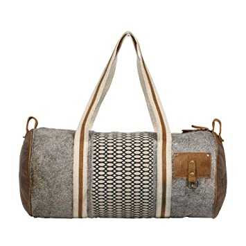 7a08c1cb6e6f Amazon.com | Myra Bag Bumblebee Upcycled Canvas & Cowhide Leather ...