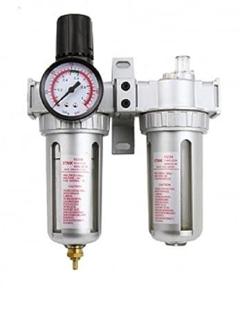 Air Regulator Filter Water Trap Oiler Lubricator 3in1 Gauge Compressor  Pressure