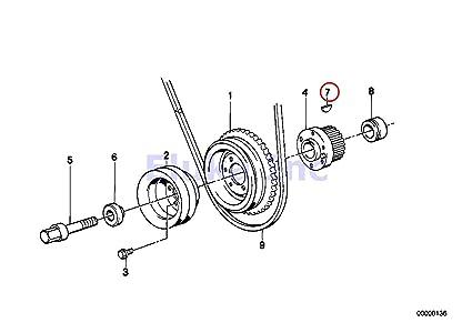 Sensational Amazon Com Bmw Genuine Engine Block Crankshaft Woodruff Key 5 X Wiring 101 Orsalhahutechinfo