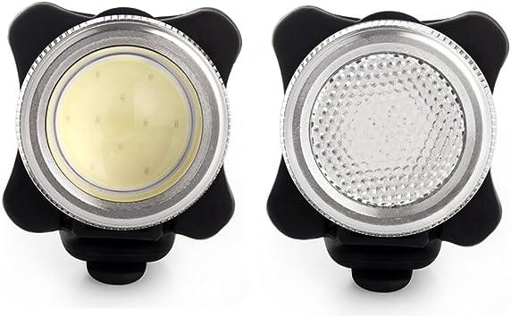 Agapo Luces LED para bicicleta recargable por USB conjunto de COB ...