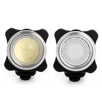 Agapo Luces LED para bicicleta recargable por USB conjunto de COB luces delantera y trasera para bicicleta: Amazon.es: Deportes y aire libre