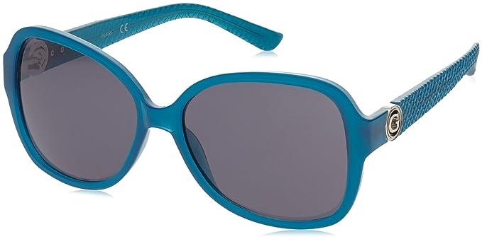 GUESS GF0275, Gafas de Sol para Mujer, Azul (BLU), 58
