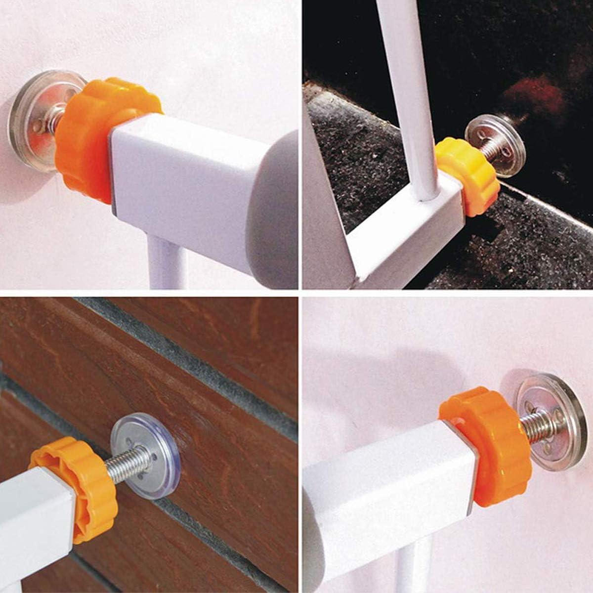 ZUZER 8pcs Pressure Baby Gates Threaded Spindle Rods M10 Walk Thru Gates Accessory Screw Bolts Safety Gate Screws for Baby and Pet Safety Gates