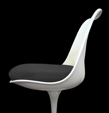Slip On Cushion Cover For Saarinen Tulip Side Chair (Black)