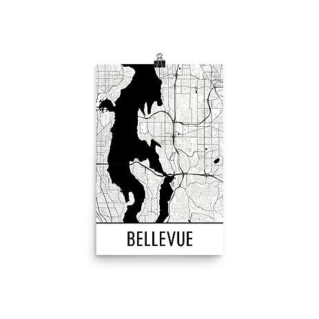 Amazon.com: Bellevue Print, Bellevue Art, Bellevue Map, Bellevue WA ...
