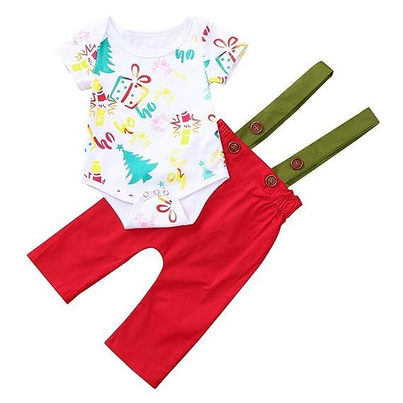 Heecaka Baby Rompers Niños Niñas Trajes de Mono de Navidad de Manga Corta Mono: Amazon.es: Ropa y accesorios